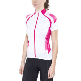 Löffler Hotbond Kortärmad cykeltröja Dam pink/vit
